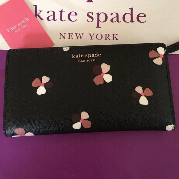 kate spade Handbags - Kate Spade Camron Dust Buds Ditsy Large WALLET